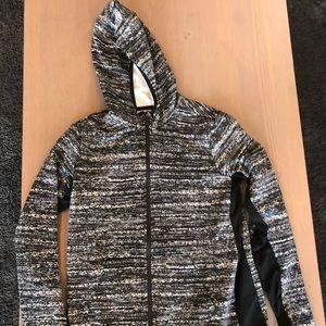 Black and white zip up Nike hoodie